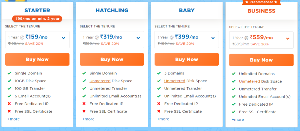 Best Web Hosting Comparison in 2021