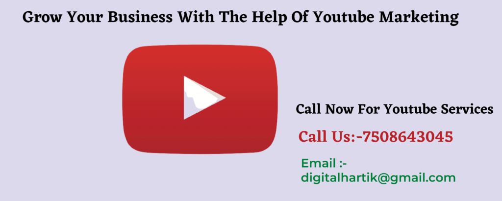 Youtube channel management services India | youtube video marketing jal